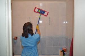 убираем мошки в ванной